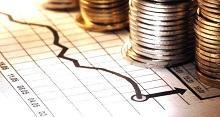 Grafico su carta e monete
